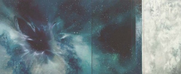 nc TM8641 White Dwarf Diptych 30x72 oil on panels