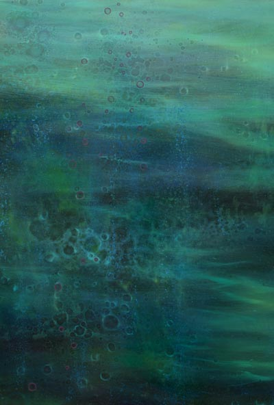 TM8301 Water Music - Summer's Song 30x30 oil on panel (detail)
