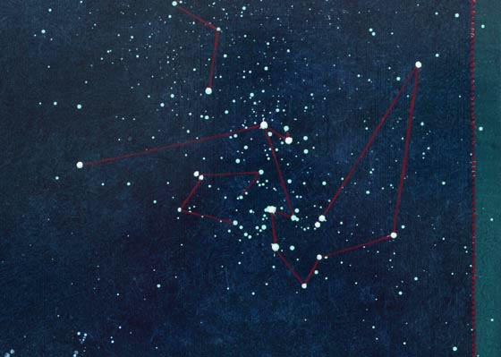 TM8303 By Night, detail of sky and constellations