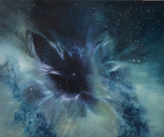 TM8312 Birth of a White Dwarf 30x36 oil on panel