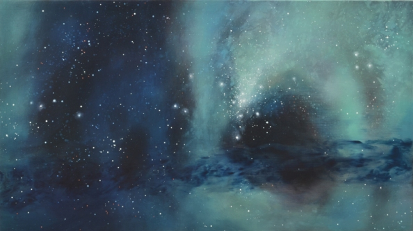 TM8315 While Passing the Magellanic Cloud 20x36 oil on panel