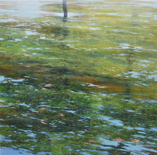 TM8340 Summer Morning - Oh to be a Duck! 36x36 oil on panel