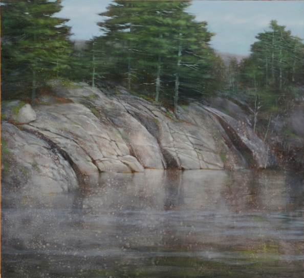 TM8347 Early April at the Pond 22x24 oil on panel