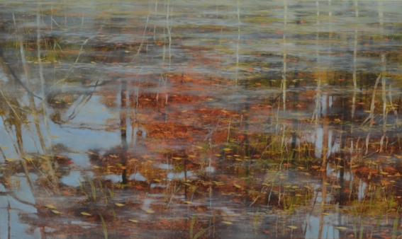 Of water, and thereabouts 30x50 oil on panel