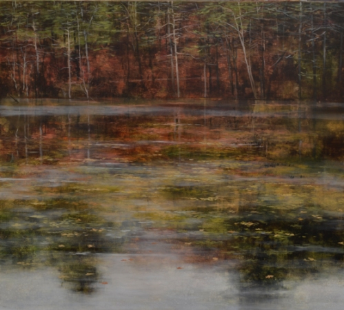 TM8448 In the Footsteps of Thoreau 36x40 oil on panel