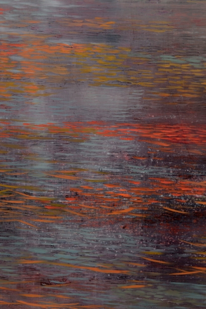 TM8614 Deep November - detail showing bands of reflections and pine needles