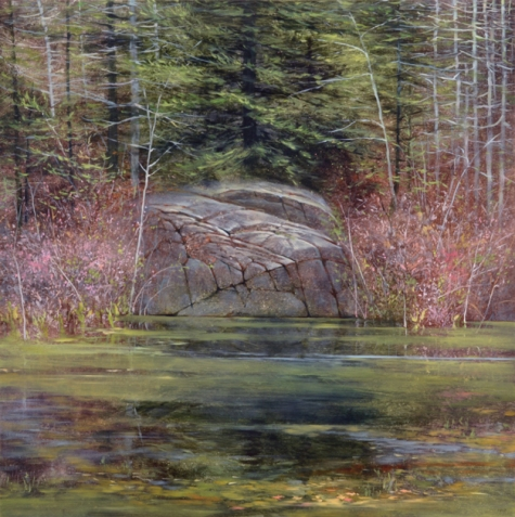 TM8356 Deep in the Woods 30x30 oil on panel