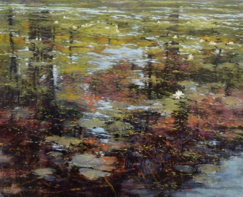 TM8389 Autumn's Mirror 36x44 oil on panel