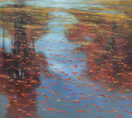 TM8407 Red Fall 36x40 oil on panel