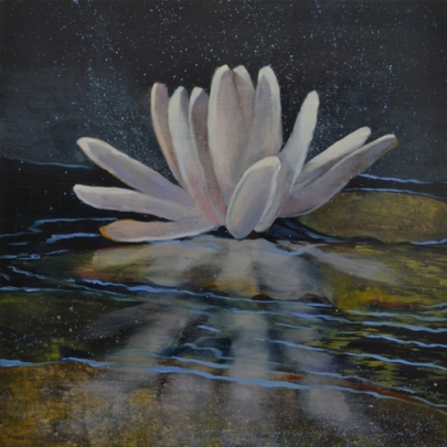TM8420 Astral Lily 12x12 oil on panel
