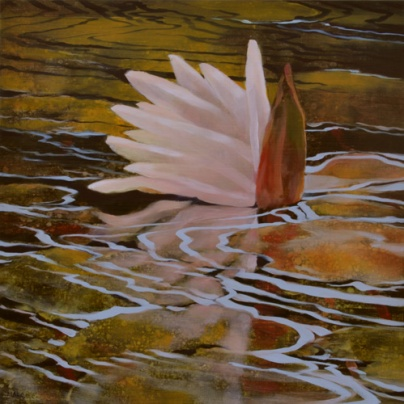TM8431 Tango Lily, Resting 12x12 oil on panel