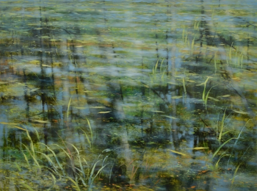 TM8439 Pond Edge 36x48 oil on panel