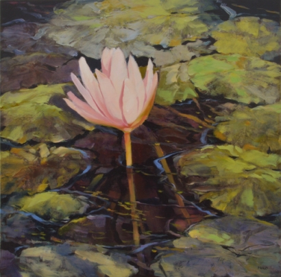 TM8435 Sunshine Lily 12x12 oil on panel