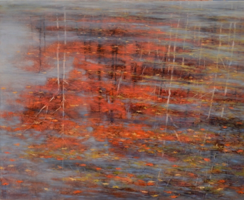 TM8436 Poem from a Gray October Morning 36x44 oil on panel