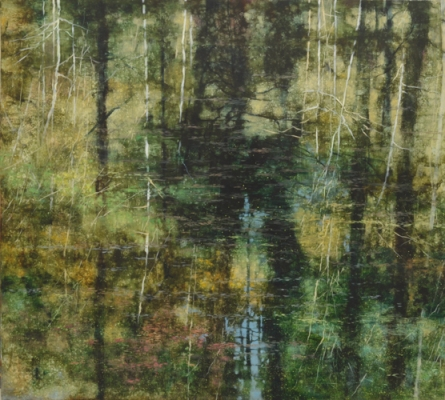TM8445 Arboreal Reflections #1 36x40 oil on panel