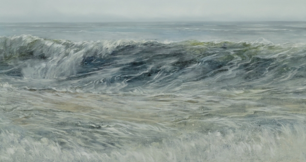 TM8466 The Restless Sea 24x44 oil on panel