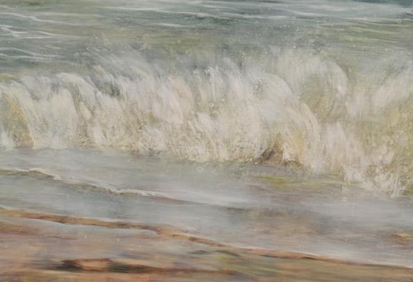TM8472 Where Words Slip Away - detail of breaking wave