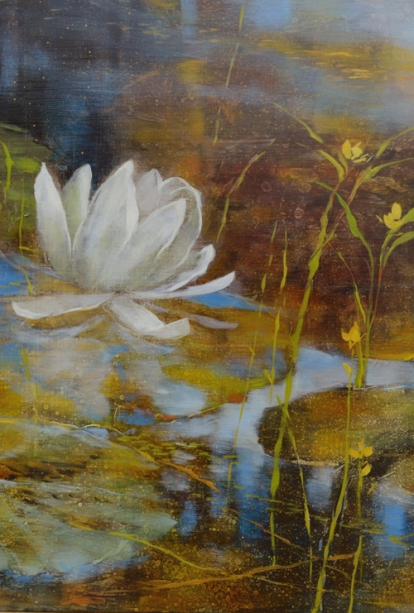 TM8511 Notes from the Other Side - detail showing water lily and bladderwarts