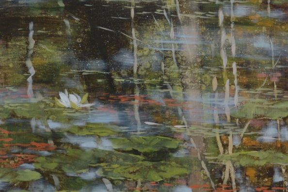TM8521 The Lily Pond - detail from left side