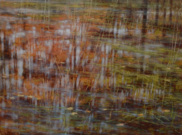 TM8520 Pausing Time - October 36x48 oil on panel