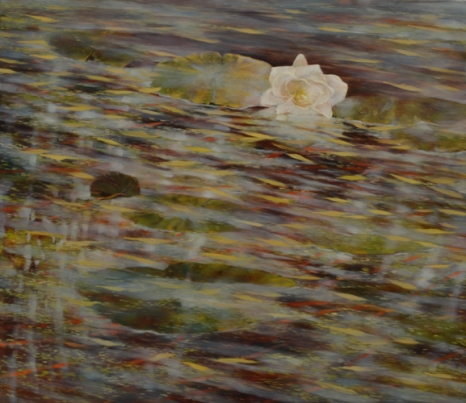 TM8529 Resting Lily 26x30 oil on panel