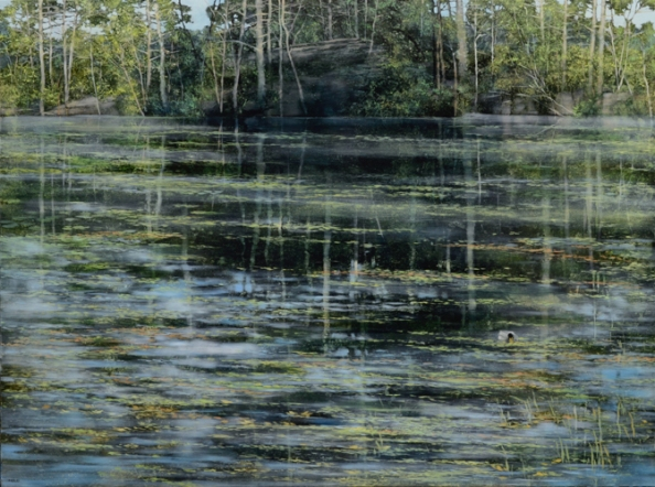 TM8546 A Day at the Pond 36x48 oil on panel