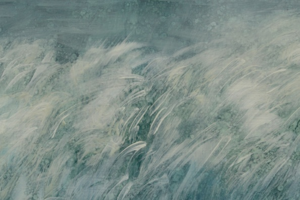 TM8541 Clearing - detail of wave showing spatter textures and brush strokes