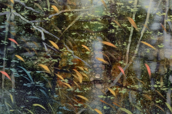 TM8543 Arboreal Reflections #4 - detail from centerwith reflections and grasses
