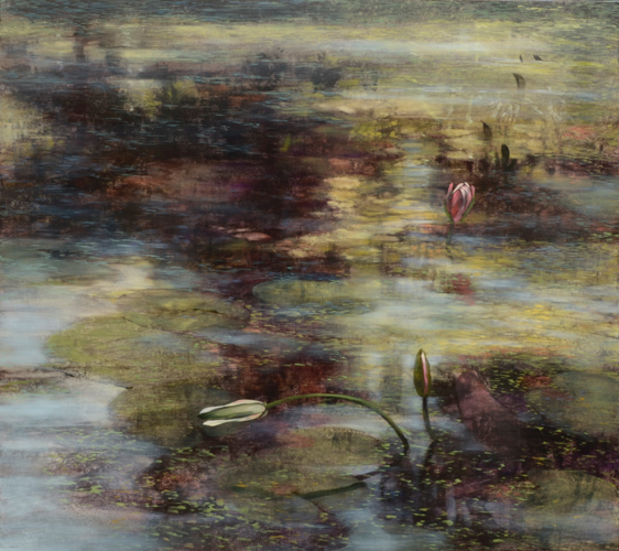 TM8371 Late August Lilies 36x40 oil on panel