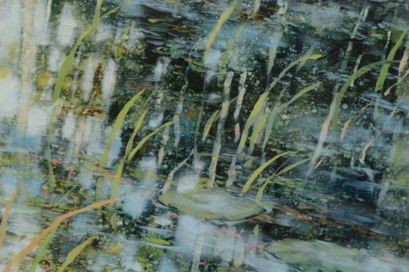 TM8553 Any Day Now - detail from right of center with grasses and partially submerged lily pad