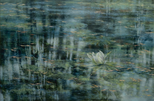TM8554 Frist Lily 35x54 oil on panel