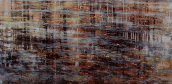 TM8558 Watching Time - Autumn 30x60 oil on panel