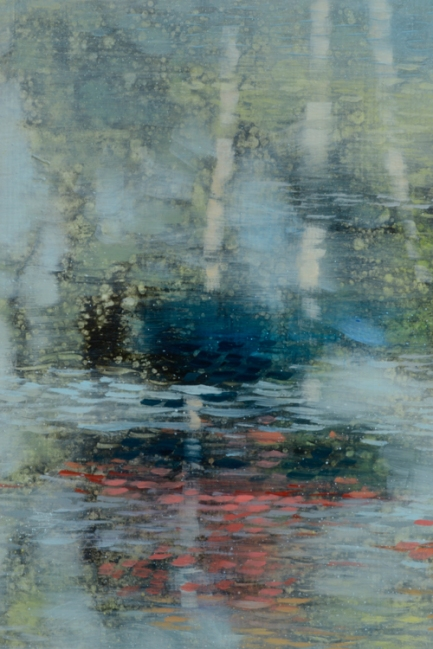 TM8560 Pondscape for Brian Eno - detail from left side showing crisper reflection from trees and sky