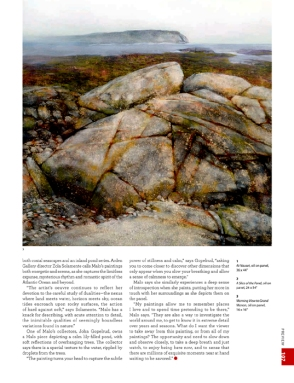 American Art Collector Magazine, August 2015 issue, preview article