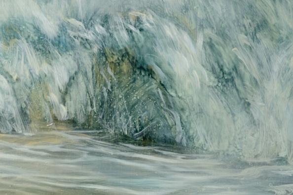 TM8565 Slipping Away - detail of wave