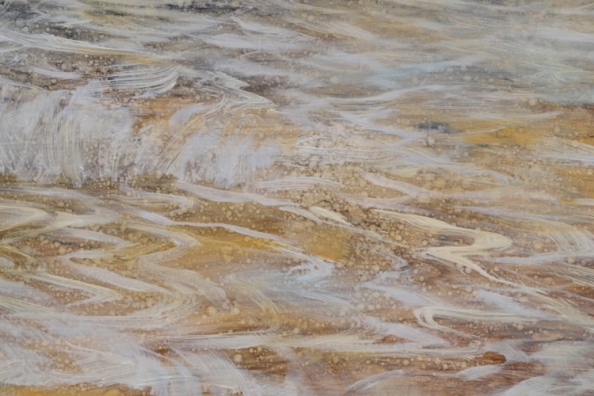 TM8566 On Vacation - detail from right edge showing beach sand overlayed with advancing and retreating tide