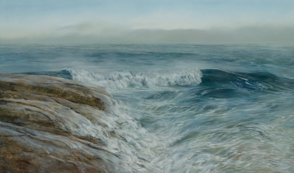 TM8569 North Shore High Tide 36x60 oil on panel