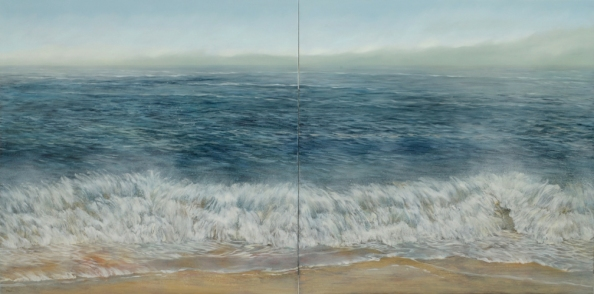 TM8570 My Big BLue Day 36x72 diptych, oil on panel