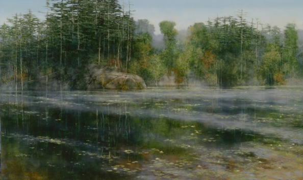TM8585 An August Morning 36x60 oil on panel