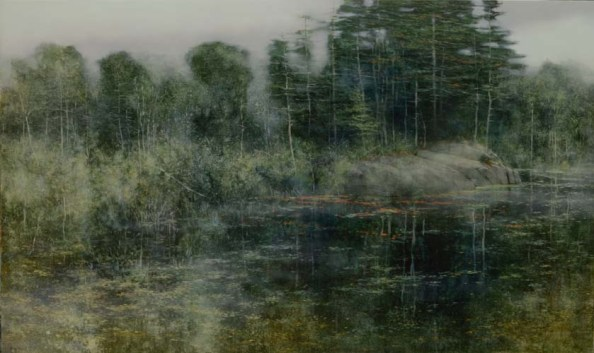 TM85886 Drizzly Day 36x60 oil on panel