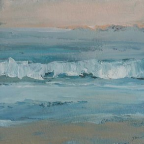 TM8644 Watching the Waves Come In #161 6x6 oil