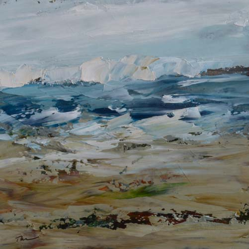 TM8645 Watching the Waves Come In #162 6x6 oil