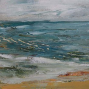TM8647 Watching the Waves Come In #164 6x6 oil