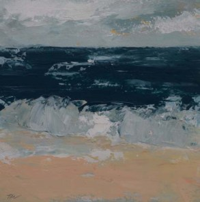 TM8664 Watching the Waves Come In #172 6x6 oil