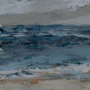 TM8665 Watching the Waves Come In - Winter #1 6x6 oil