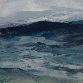 TM8667 Watching the Waves Com e In - Winter #3 6x6 oil