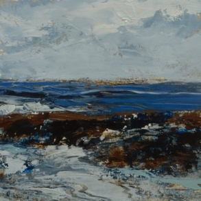SOLD TM8673 Watching the Waves Come In #173 6x6 oil