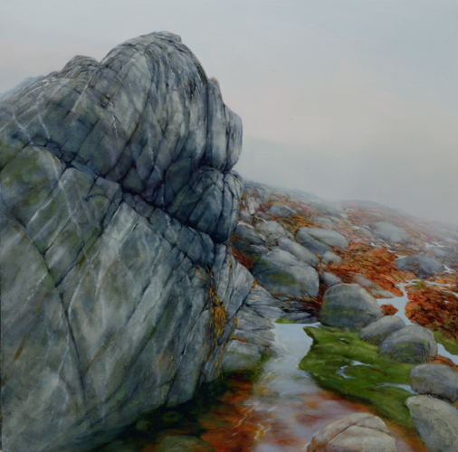 TM8018 Leaning into the Fog 36x36 oil on panel