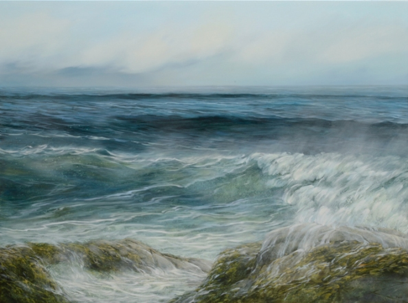 TM8690 Morning at Bass Rocks 36x48 oil on panel