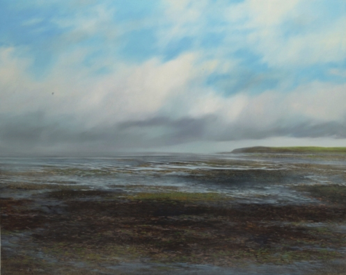 nc web TM8695 Watching the Tide Go Out 40x50 oil on panel